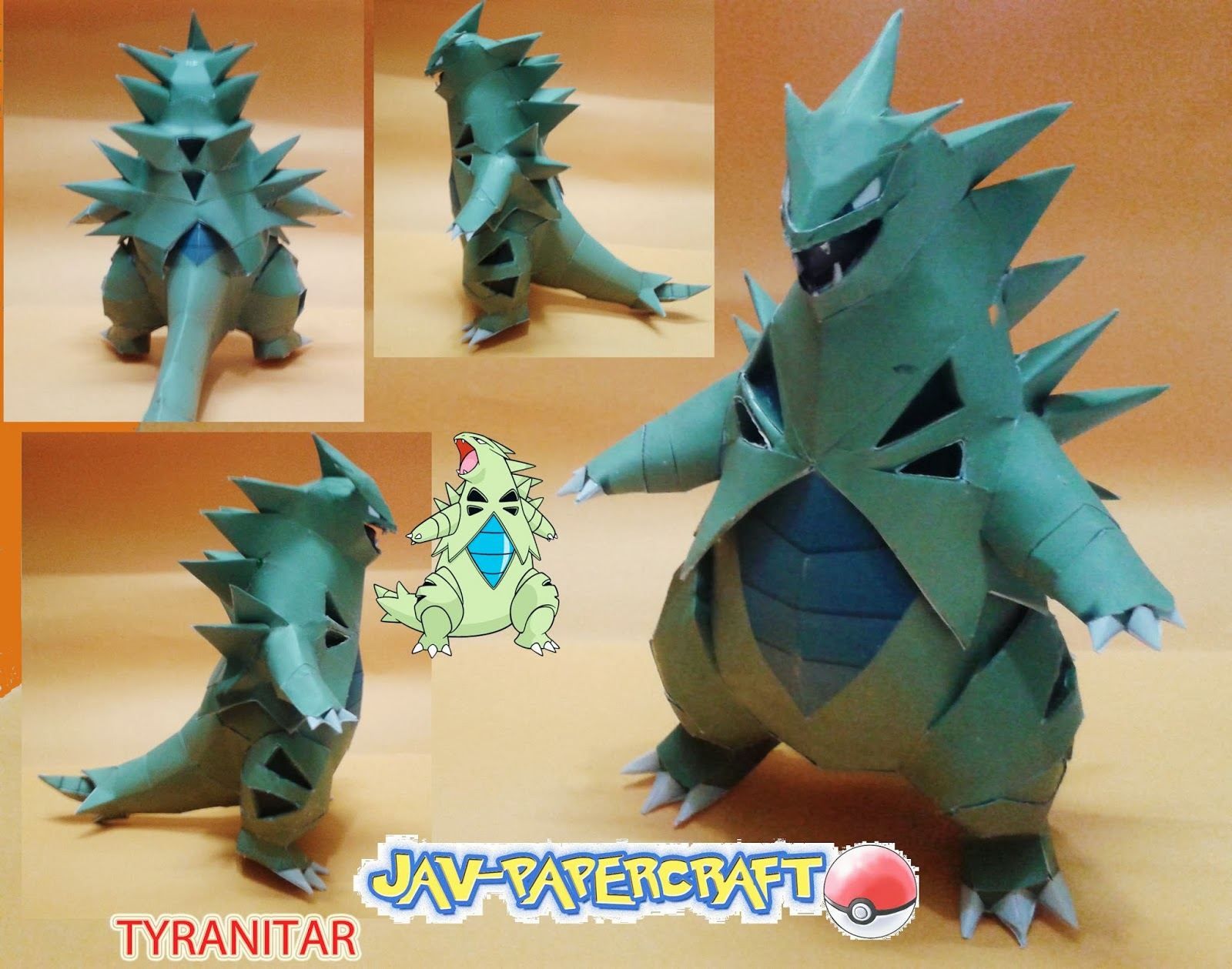 Pokemon Tyranitar Paper Model