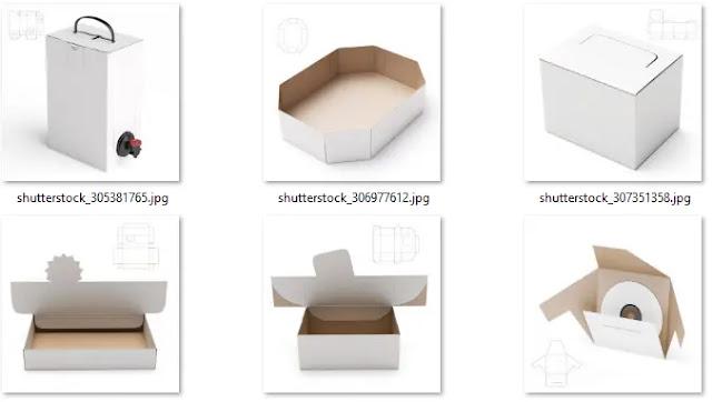 تحميل صور علب التعبئة مع إظهار أماكن الطي لها من شترستوك 3 - هارد المصمم العملاق