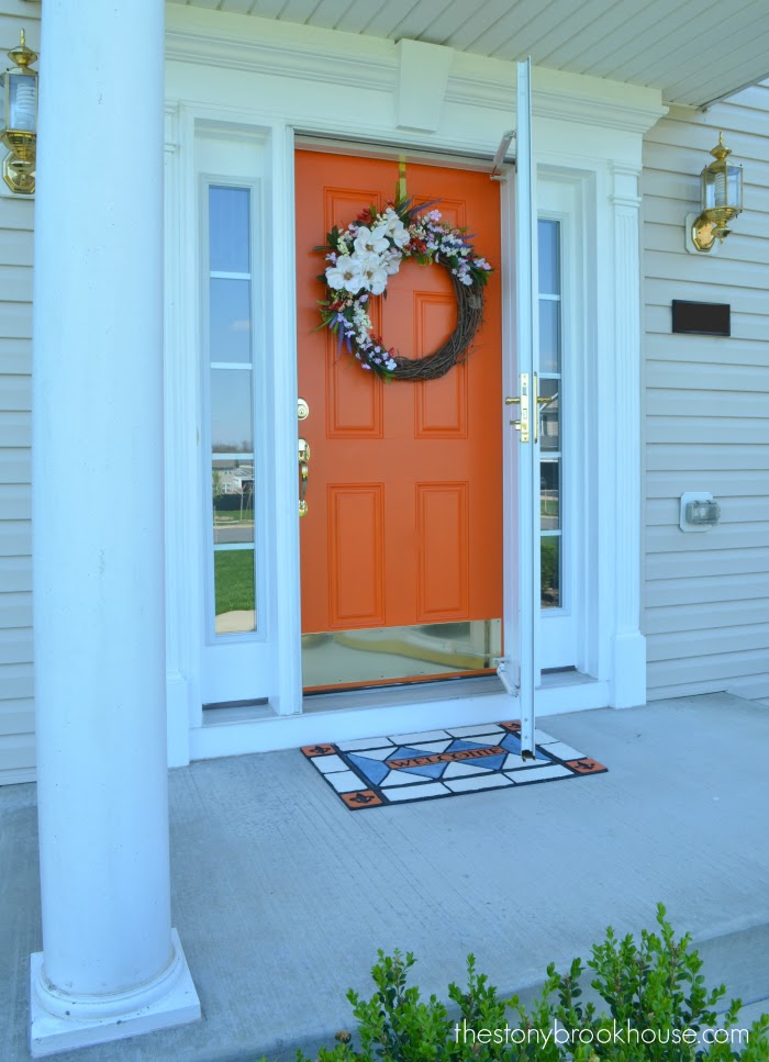 Spring Wreath Front door