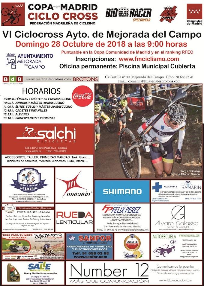 La Copa madrileña de Ciclocross regresa a Mejorada del Campo