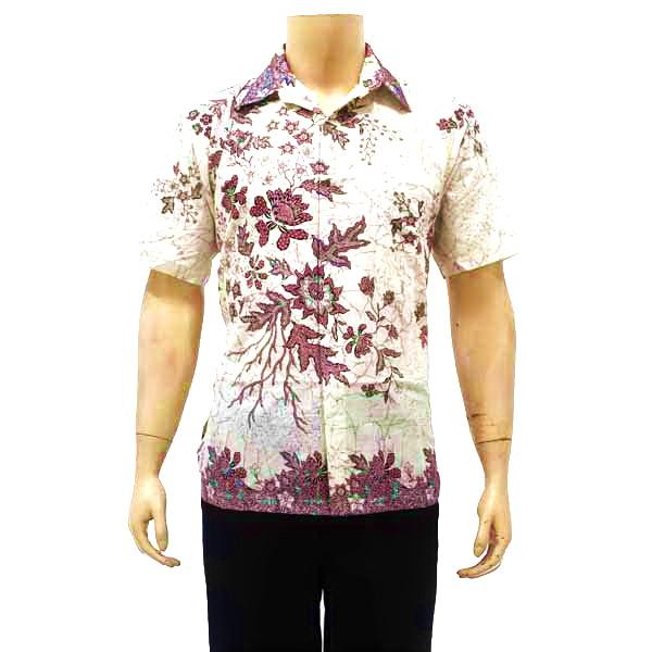 Kemeja Batik Pria Sutra: Kemeja Batik Pria Bagoes Solo KODE : BP 3188