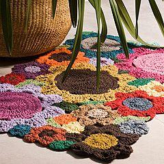 Tapete de crochê flores