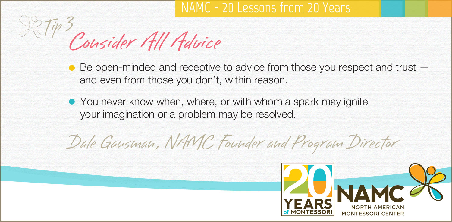 NAMC's 20 Lessons from 20 Years Consider All Advice