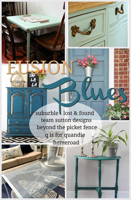 fusion mineral paint, blue paint, paint makeovers, giveaway, http://bec4-beyondthepicketfence.blogspot.com/2016/04/fusion-blues-paint-giveaway.html