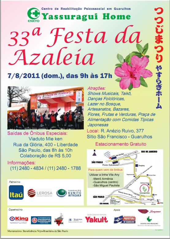 7610fcf69d A tradicional Festa da Azaléia do Centro de Reabilitação Psicosocial  Yassuragui Home será no primeiro domingo de agosto