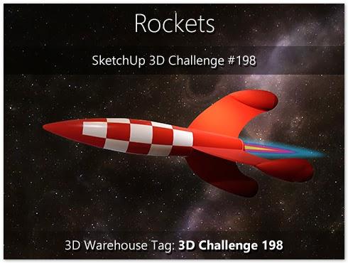 SketchUp 3D Challenge: SketchUp 3D Challenge #198 - Rockets