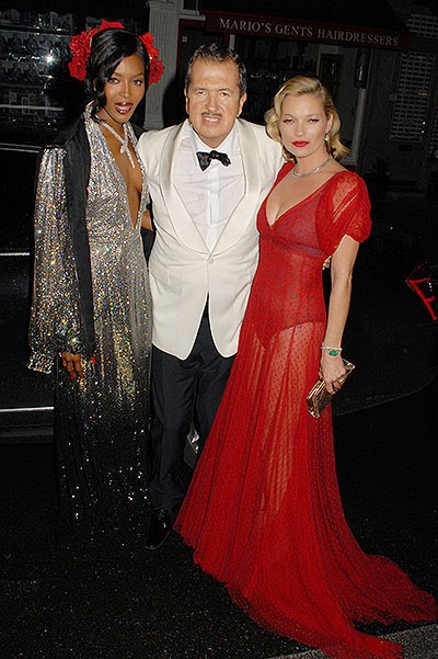 Celebrities at the birthday of Mario Testino