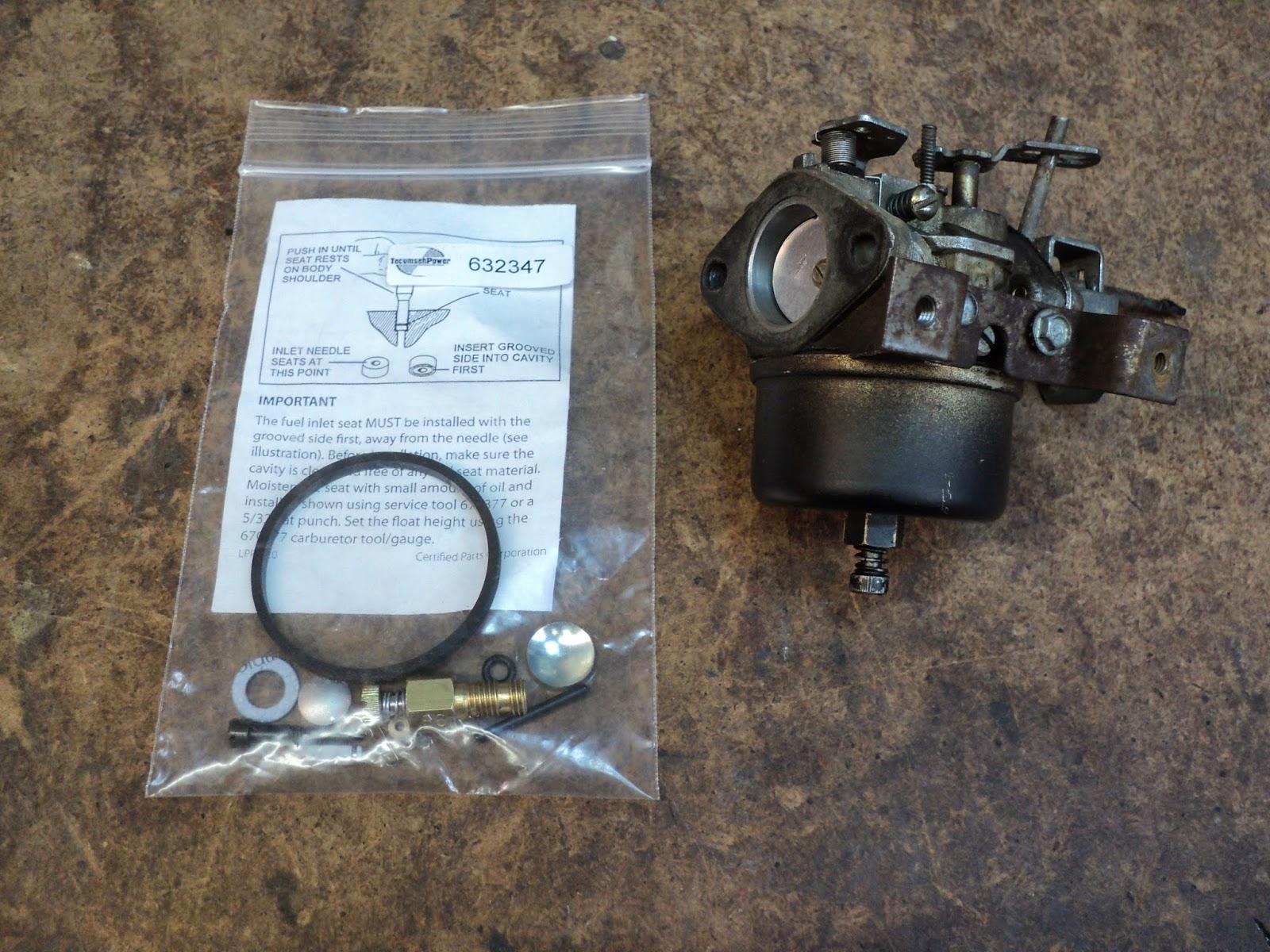 Rouge River Workshop: Tecumseh 1099 Carburetor -- Repair Kit
