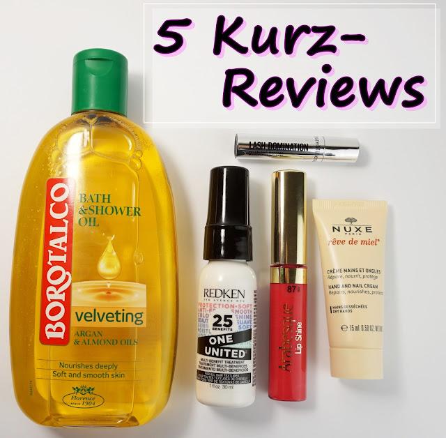 5 Kurz-Reviews: Produkte aus div. Beauty-Boxen BareMinerals, Nuxe, Arabesque, Redken, Borotalco