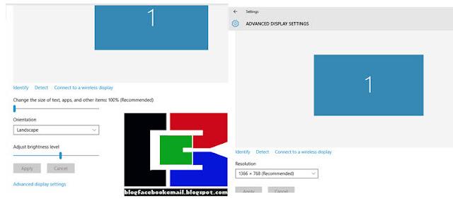 cara mengubah resolusi UBAH RESOLUSI dual monitor di windows