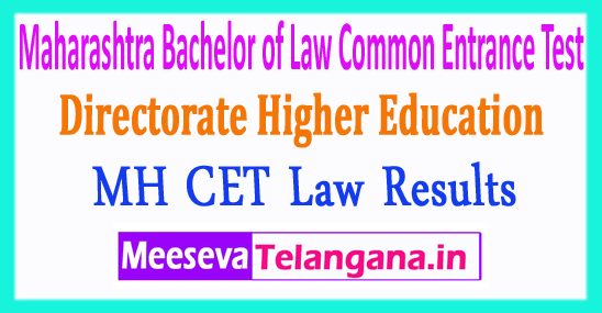 Maharashtra Bachelor of Law Common Entrance Test MH Law CET Results 2018