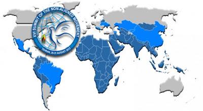 Gambar Peta negara Non Blok