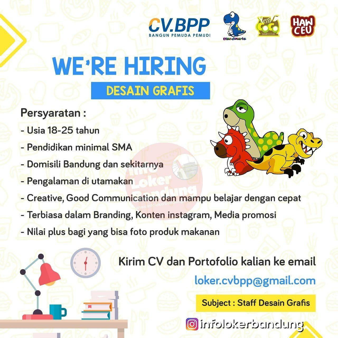 Lowongan Kerja Desain Grafis CV.BPP Bandung Januari 2019