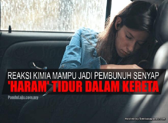 Bahaya tidur dalam kereta