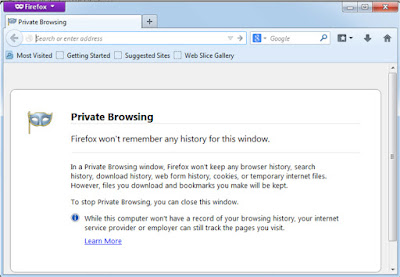 Private Browsing Facebook