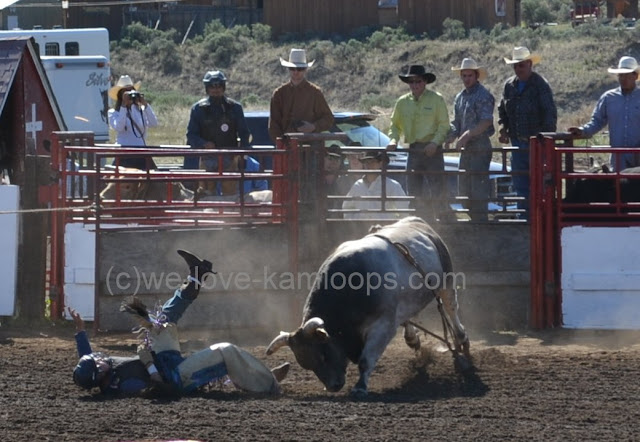 No one was hurt but the bull appears to want to show who's boss