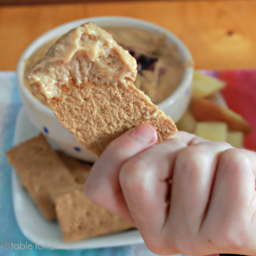 Warm Peanut Butter and Jelly Dip