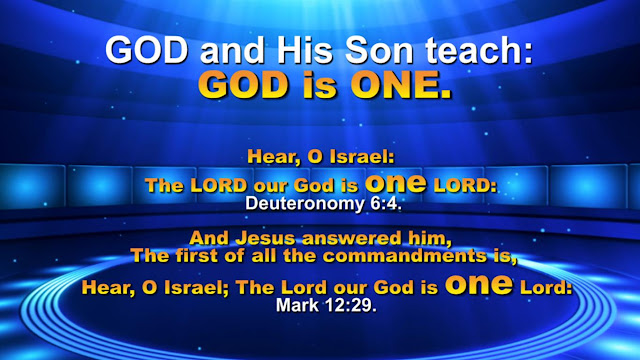 GOD is ONE NOT THREE.