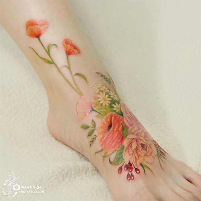 Stunning Floral Tattoos