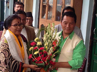 GJM Terai chief Tshering Dahal with  Bimal Gurung