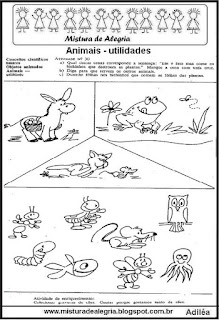 Atividades sobre os animais para 1º ano