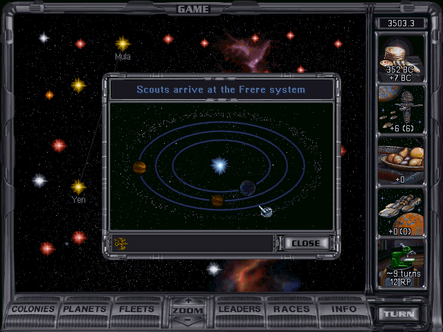Screenshot from Master of Orion II: Battle at Antares