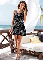 Rochie de plajă cu imprimeu (bonprix)
