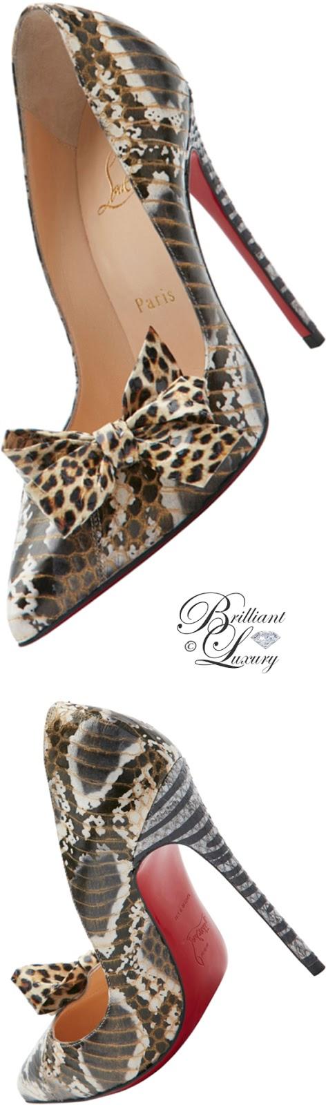 Brilliant Luxury ♦ Christian Louboutin Madame Menodo snakeskin pumps
