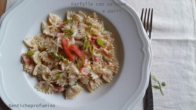 senticheprofumino, salmone, porri, pasta, primo piatto, piatti veloci, pasta al salmone, food, fast