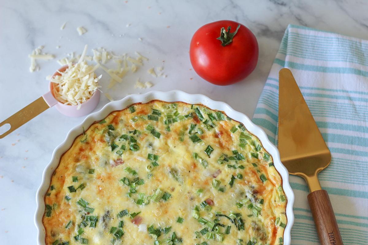 Asparagus, Ham & Gruyere Crustless Quiche