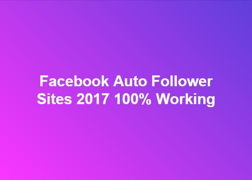Fb Auto Followers Trick