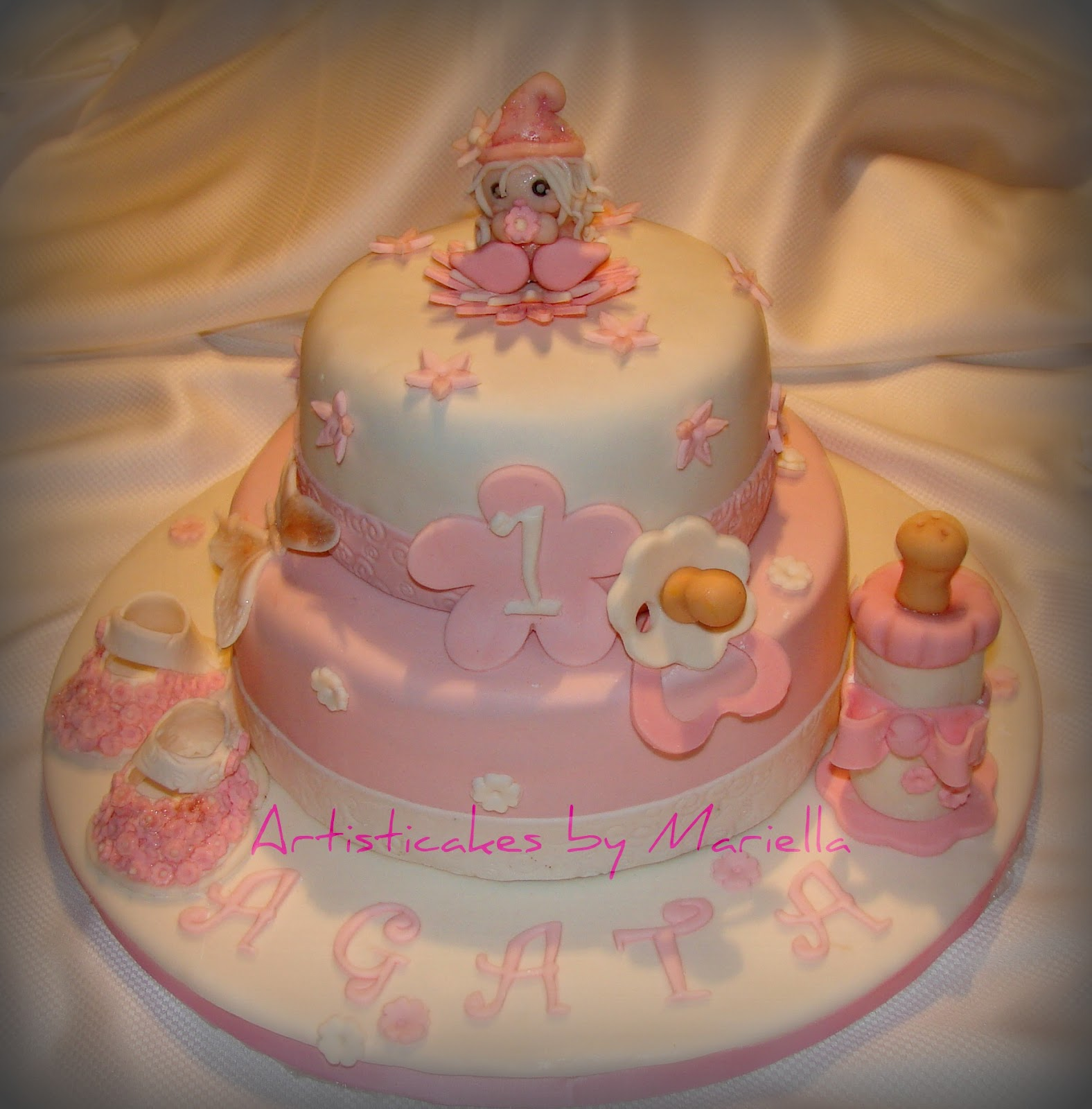 Regalo Primo Compleanno Nipotino artisticakes by mariella: torta primo compleanno di agata