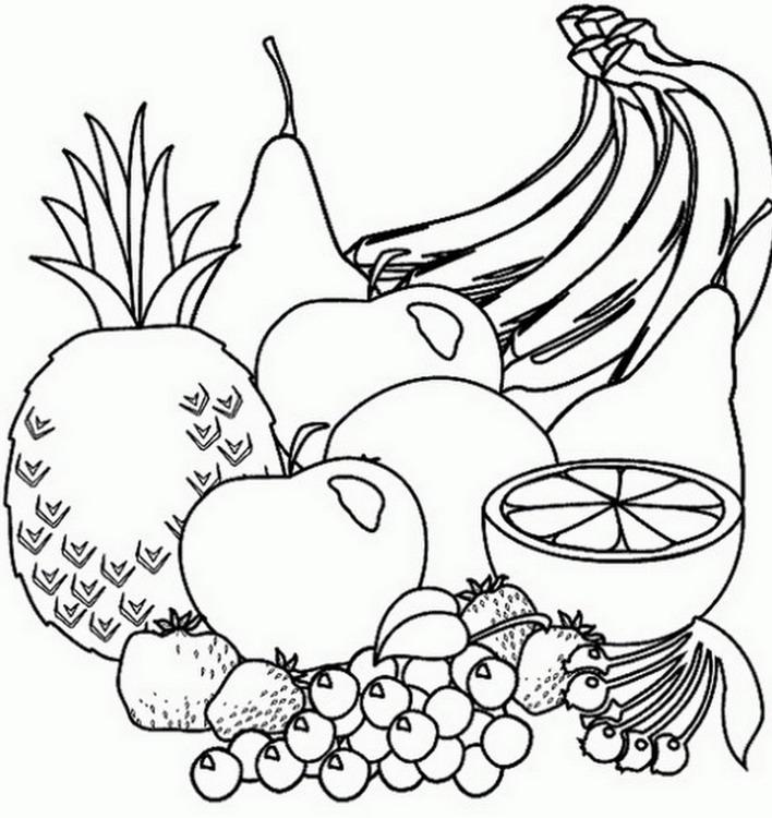 Bodegon de frutas para dibujar
