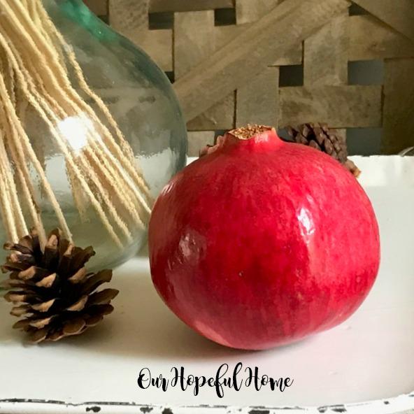 pine cone pomegranate wheat sheaf