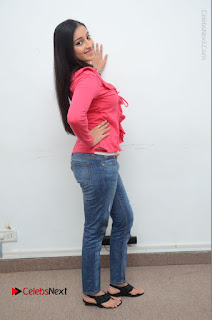 Telugu Actress Mouryani Latest Pos in Blue Denim Jeans  0205.JPG