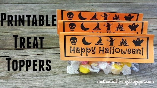 Free Printable: Happy Halloween Treat Bag Topper