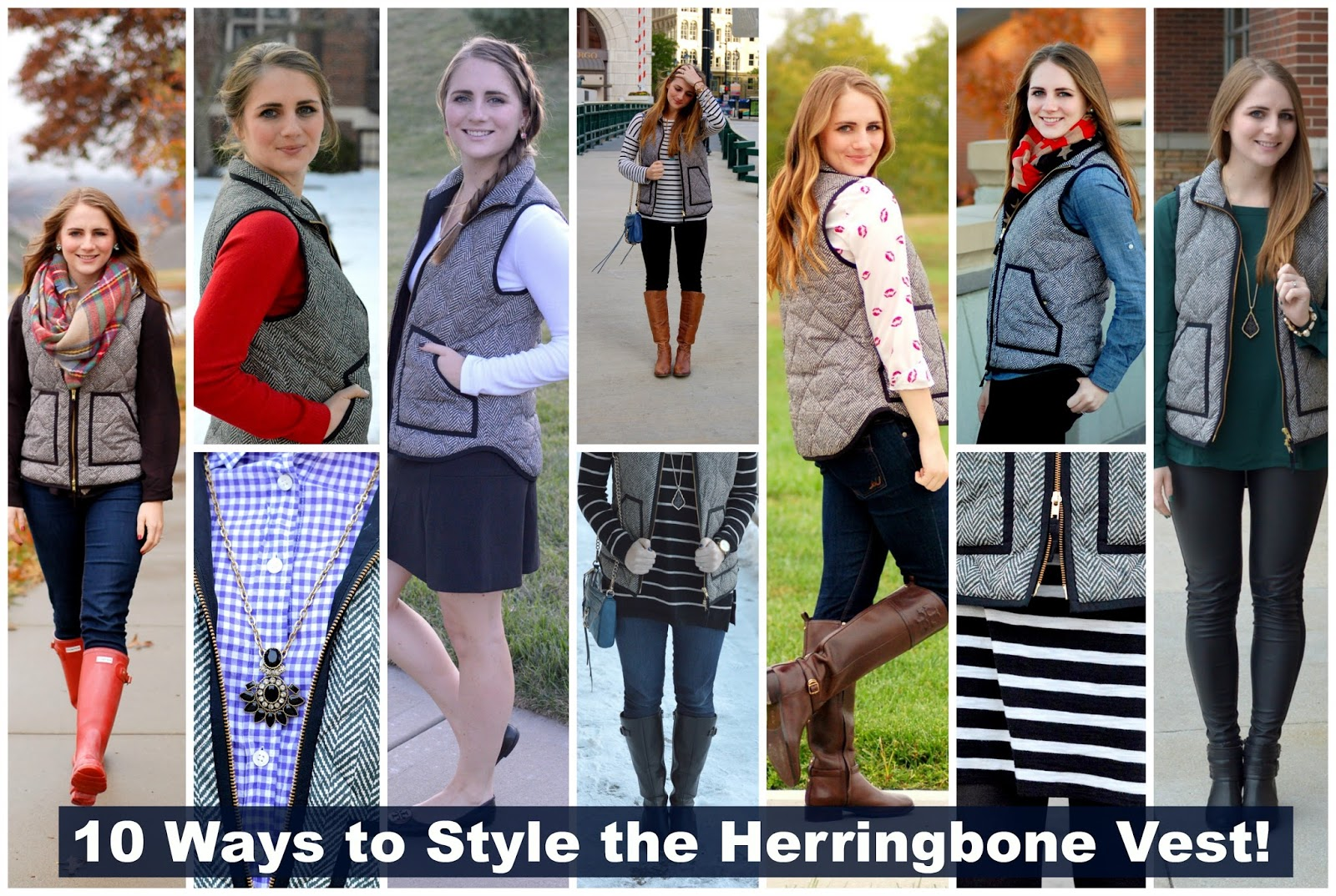 10 ways to style the herringbone vest