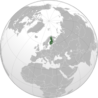 Location of Finland on the globe