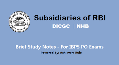 Subsidiaries of RBI - Short Notes