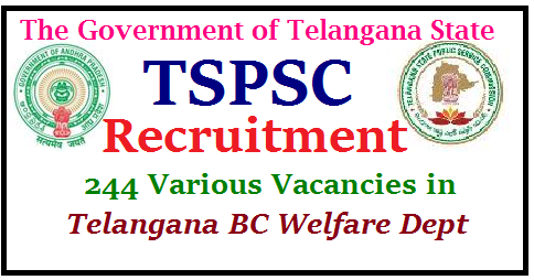 GO MS No 112 Recruitment of 244 Various Vacancies in Telangana BC Welfare Dept through TSPSC District BC Development Officers Assistant BC Development Officers in Pre Metric and Post Metric Hostels in Telangana Junior Assistant Posts Recruitment Schedule Eligibility Criteria Syllabus will be mentioned in Detailed Notification by TSPSC later Public Services – Backward Classes Welfare Department - Recruitment – Filling of (244) Two Hundred and Forty Four vacant posts in various categories by Direct Recruitment under the control of Commissioner of Backward Classes Welfare Department, Telangana, Hyderabad, through the Telangana State Public Service Commission, Hyderabad – Orders –Issued. recruitment-notification-of-244-various-vacancies-bc-development-officers-telangana-eligibility-syllabus-tspsc-apply-online-Exam-pattern-model-question-papers-recruitment-notification-apply-online-hall-tickets-exam-dates-answer-key-results/2017/07/recruitment-notification-of-244-various-vacancies-bc-development-officers-telangana-eligibility-syllabus-tspsc-apply-online-Exam-pattern-model-question-papers-recruitment-notification-apply-online-hall-tickets-exam-dates-answer-key-results.html