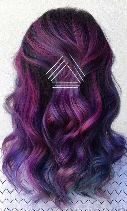 30 BEAUTIFUL PURPLE AND BLUE HAIR LOOKS