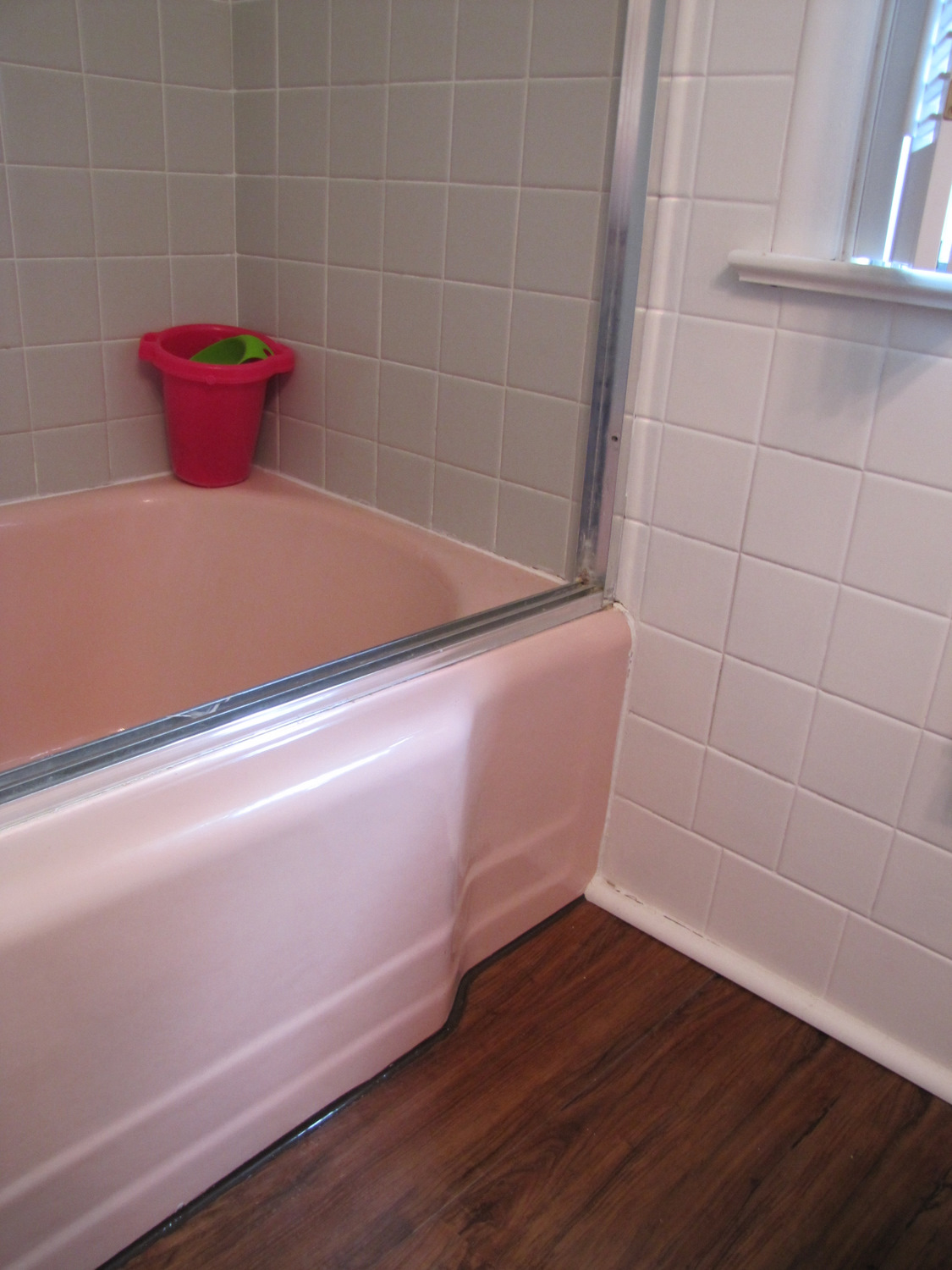 Smoke mirrors a bathroom reveal the painted home - How to prepare bathroom walls for painting ...