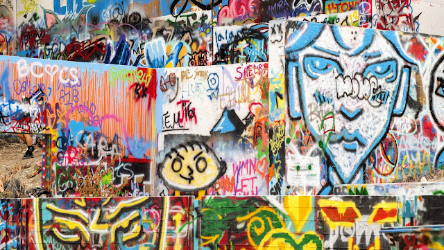 Graffiti Park at Castle Hill in Austin, Texas