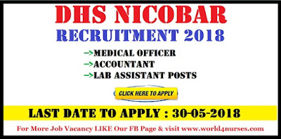 DHS Nicobar Recruitment 2018 Medical Officer, Accountant, Lab Assistant Posts