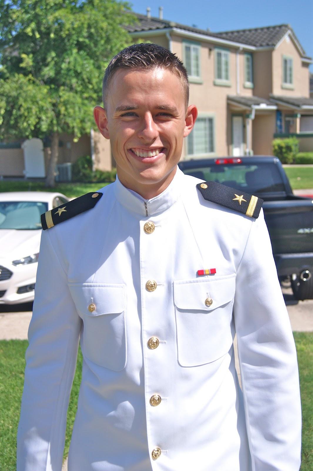 Navy men in uniform