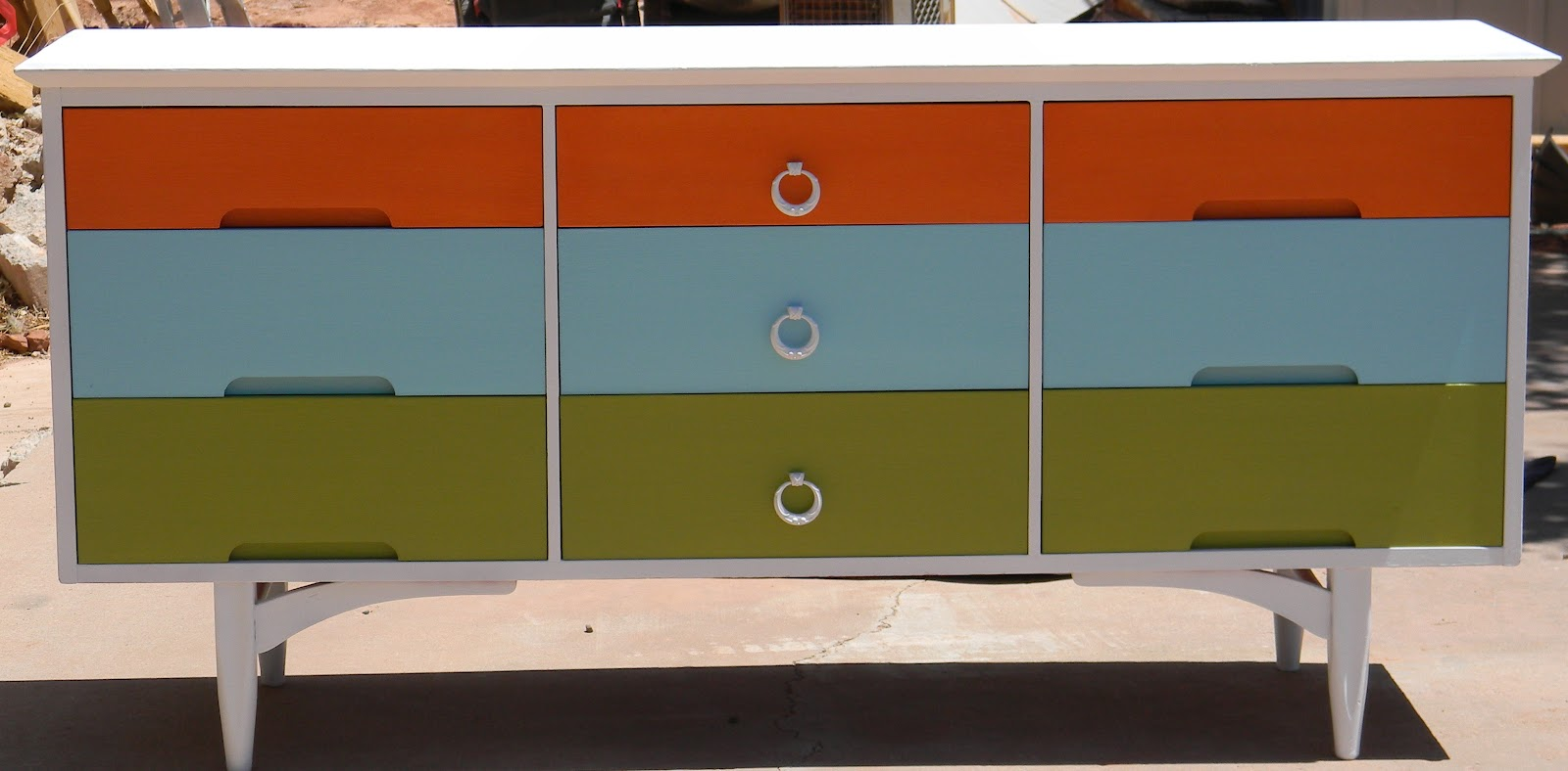 Awesome multi colored funky dresser