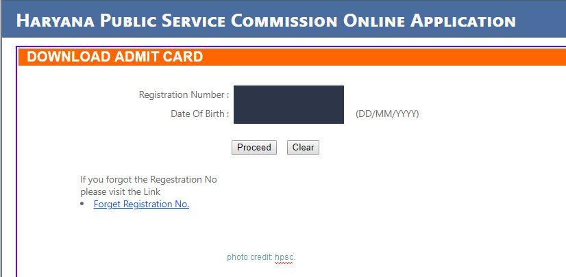 HPSC HCS Admit Card