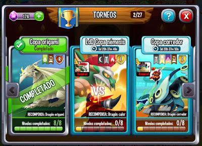 imagen del torneo temporal copa nemesis de dragon city