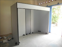 Sekat Booth Pameran Bahan Plywood HPL - Furniture Kantor Semarang