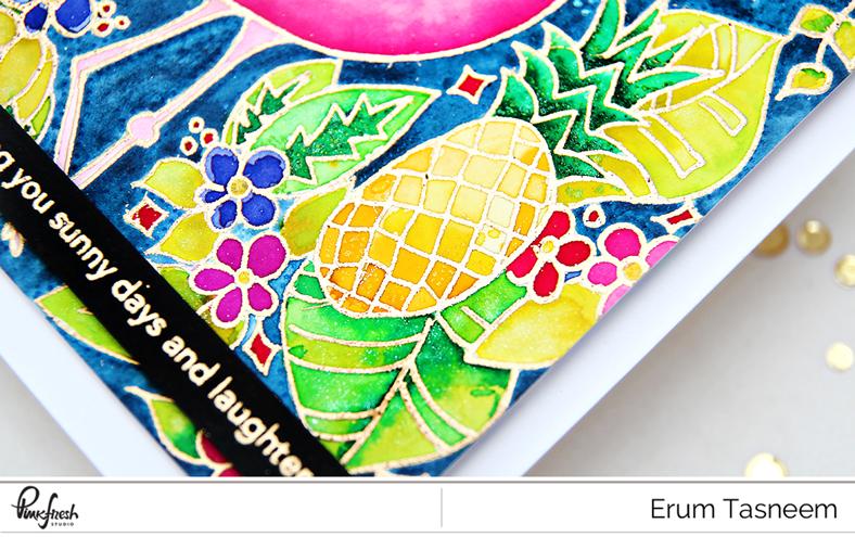 Pinkfresh Studio Let's Flamingle Stamp Set | Erum Tasneem | @pr0digy0
